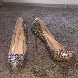 Lauren Lorraine Multi Color Studded Heel